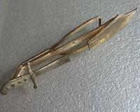 Tie Clasp Clip MENS Vintage Retro Accessory 1960s 1970s SWORD DAGGER