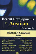 Recent Developments in Autism Research - New Book
