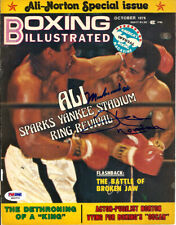 Muhammad Ali & Ken Norton Autographed Boxing Illustrated Cover PSA/DNA S01574