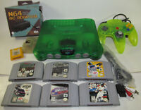Nintendo 64 Jungle Green System Console 6 Game Bundle N64 w/ Extreme Green READ*