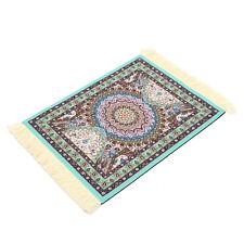 28cm x 18cm Light Blue Bohemia Style Persian Rug Mouse Pad For Desktop PC Laptop