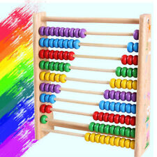 Colorful Toy Number Abacus Bead Education Maths Teaching Kids Children Wooden
