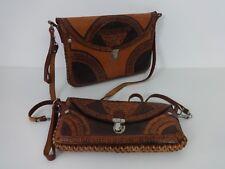 Vintage Leather Handbag & Purse Acapulco Brown Handmade Shoulder Clutch Bags