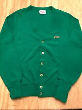 Le Tigre by Campus Vintage Designer Cardigan Sweater Kelly Green Made in Usa