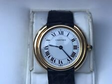 NOS Never Worn Vintage Cartier Gold Watch in Cartier Box