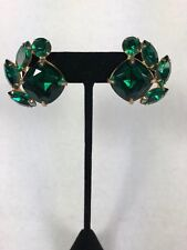 68d7c7d669ce3 vintage emerald green rhinestone earrings | eBay
