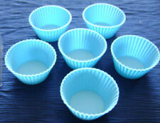 NEW SET OF 36 SILICONE CUPCAKE BAKING MOULDS BLUE UBL or PRIMA /UBL . 6 BOXES