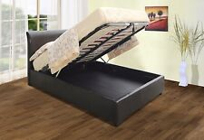 Savona Storage Ottoman Gaslift PU/Faux Leather Bed Frame Black Or Brown
