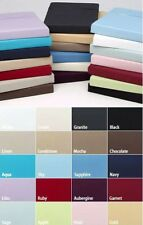 "Extra Deep Fitted Sheet 16""/40CM 100% Egyptian Cotton 200TC all 5 sizes 14 color"