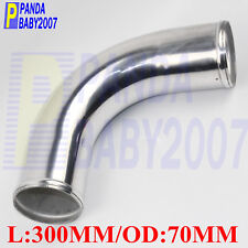 "POLISHING ALUMINUM 90 DEG ELBOW 2.75"" INCH 70MM TURBO INTERCOOLER PIPE L=300MM"