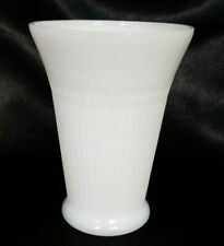 VINTAGE 6 3/4 INCH WHITE MILK GLASS VASE