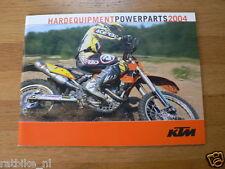 HAP-001 KTM BROCHURE HARD EQUIPMENT POWERPARTS 2004 PROSPEKT,FOLDER,MOTO