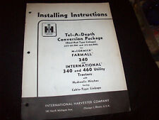 Tel-A-Depth Conversion Package Installing Instructions Farmall 340 460 Tractor
