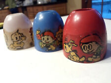 Vintage Christmas Light Covers With Cartoon Character Images On Them Free Ship