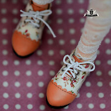 MSD Shoes 1/4 BJD Shoes Supper Dollfie DREAM Floral Shoes MID Luts AOD DOD EID