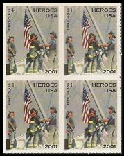 US B2 Heroes of 2001 First Class block MNH 2002