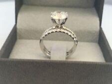ENGAGEMENT DIAMOND RING BAND SET 14K WHITE GOLD 2.5 CARATS SIZE 5.5 6.5 7.5