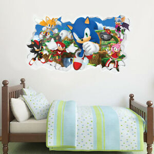 Sonic The Hedgehog Wall Sticker - All Characters Smashed Wall Sticker Art Decal