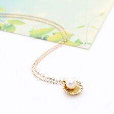 1 X Shell Bead Sweater Necklace Choker Chain Women Jewelry Accessories JA