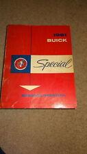 1961 61 Buick Special service manual. Shop manual original Oem.