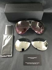 Porsche 8478 M Sunglasses Pink Gradient &  Silver Interchangeable lenses. 69mm