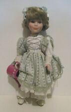 "VINTAGE DYNASTY DOLL COLLECTION PORCELAIN DOLL NADINE 15"" TALL NO TAG/BOX"