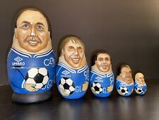 Russian Wooden Toy Roly Poly Doll Football soccer Chelsea Wise Zola Poyet UK