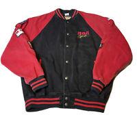 Vtg RCA Records Bomber Jacket Men's Large Racing NASCAR Cale Yarborough 80s