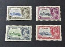 nystamps British St. Helena Stamp # 111-114 Mint OG H $31
