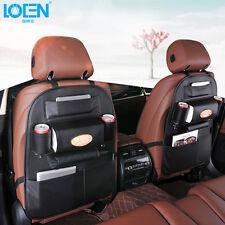 NEW Car Seat Back Multi-Pocket PU Storage Bag Organizer Holder Accessories Black
