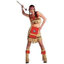 Ladies Sexy Indian Warrior Fancy Dress Costume Native American Pocahontas