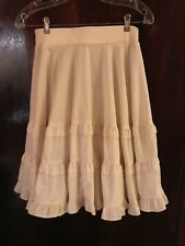 SQUARE DANCE SKIRT Ivory Color Ruffle Vintage Square Up Fashions CA size SM