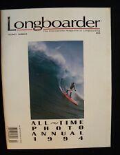 Longboarder Magaziine 1994 Vol.2 #2 Surfing Hawaii Surfer Weber