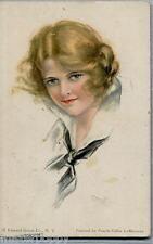 PEARLE FIDLER LEMUNYAN American Girl N° 57 Art Nouveau Glamour PC Used 1918
