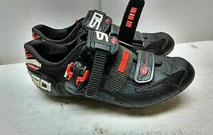 Sidi Carbon Millennium Spin Black Hook Loop Bicycle Cycling Women's Shoe 8.5M 40