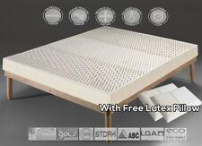 7-ZONE Organic 100% Natural Latex topper/mattress + free Latex Pillow