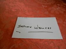 SENOR WENCES  AUTOGRAPHED INDEX CARD