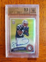 2011 TOPPS CHROME SHANE VEREEN PATRIOTS Refractor AUTO /99 ROOKIE BGS 9.5 🔥