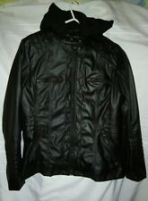BLIVENER FAUX LEATHER HOODED JACKET 10