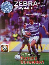Programm 1996/97 MSV Duisburg - Fortuna Düsseldorf