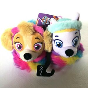Paw Patrol Toddler Girl Slippers House Shoes Skye Everest Size L 7/8  New