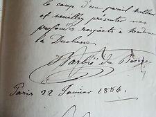 lettre autographe du géographe BARBIE DU BOCAGE au duc de CLERMONT TONNERRE 1884
