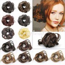 Women Bun Wavy Hair Extensions
