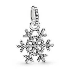 NEW Silver Crystal Sparkly Snowflake Christmas Charm Necklace Bracelet Pendant