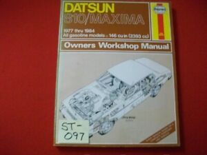 1977-1984 DATSUN 810/MAXIMA SEDAN & STATION WAGON OWNERS WORKSHOP MANUAL VGC