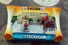 Sweden Stockholm Tourist Travel Souvenir 3D Resin Decorative Fridge Magnet Craft