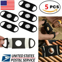 5 Pc Cigar Cutter Stainless Steel Double Blades Guillotine Knife Pocket Scissors