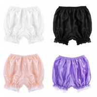 Women's Lolita Lace Ruffle Shorts Bloomers Vintage Underwear Safety Pant Shorts