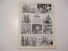 Vintage 1973 Williams Gun Scopes Shooting Hunting Catalog & Access. Chart