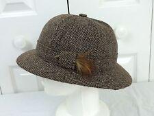SIWAN WOOLEN MILLS Sz M - 7 Jacob Sheep Wool Tweed 6 Panel Deerstalker Hat